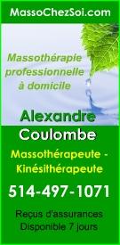 Membre de l'association professionnelle des Massothérapeutes sécialisé du Québec